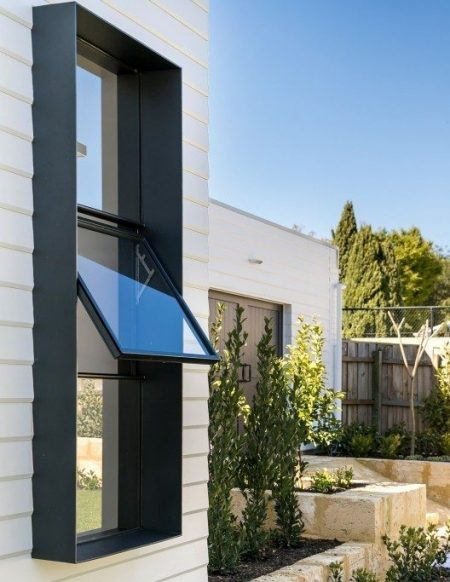 Photo of Viewnique™ aluminium casement windows made by All Style Engineering Architectural Custom Metal Windows and Doors Perth