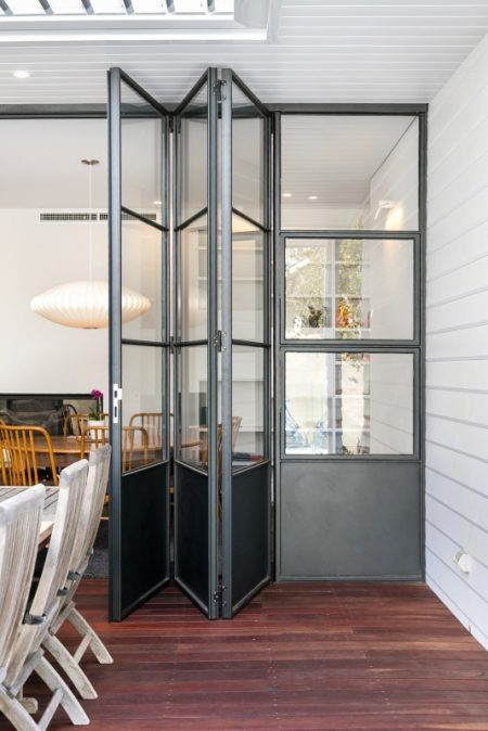 Photo of Viewnique™ aluminum bi-fold doors made by All Style Engineering Architectural Custom Metal Windows and Doors Perth
